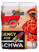1913 - Geschwa Automobile Shock Absorber Adbertisement - Color Duvet Cover