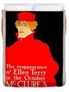 1913 - Mcclures Magazine Poster Advertisement - Ellen Terry - Color Duvet Cover