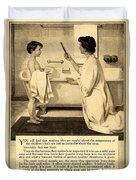 1913 - Proctor And Gamble - Ivory Soap Advertisement Duvet Cover