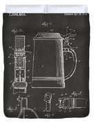 1914 Beer Stein Patent Artwork - Gray Duvet Cover