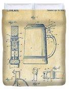 1914 Beer Stein Patent Artwork - Vintage Duvet Cover