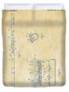 1914 Flute Patent - Vintage Duvet Cover