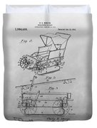 1914 Go Cart Patent Drawing Duvet Cover