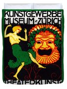 1914 Zurich Theater Arts Festival Duvet Cover