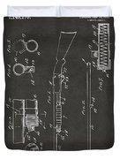 1915 Ithaca Shotgun Patent Gray Duvet Cover