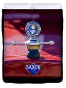 1915 Saxon Roadster Hood Ornament Duvet Cover