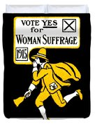 1915 Vote Yes On Woman's Suffrage Duvet Cover by Historic Image