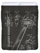 1915 Wrench Patent Artwork - Gray Duvet Cover