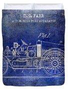 1916 Automobile Fire Apparatus Patent Drawing Lt Blue Duvet Cover