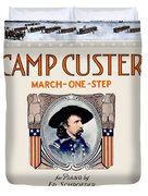 1917 - Camp Custer March One Step Sheet Music - Edward Schroeder - Color Duvet Cover