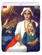 1917 - Red Cross Nursing Recruiting Poster - World War One - Color Duvet Cover