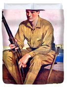 1917 - United States Marines Recruiting Poster - World War One - Color Duvet Cover