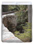 1917 Carriage Road Bridge Jordan Stream Acadia Maine Duvet Cover