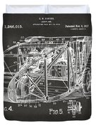 1917 Glenn Curtiss Aeroplane Patent Artwork 3 - Gray Duvet Cover