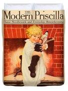 1917 - Modern Priscilla Magazine Cover - December Duvet Cover