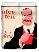 1918 - Wintergarten Poster - Roda Roda - Stephan Krotowski - Color Duvet Cover