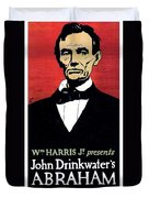 1919 - John Drinkwater's Play Abraham Lincoln Theatrical Poster - Color Duvet Cover