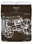 1919 Henry Ford Tractor Patent Espresso Duvet Cover by Nikki Marie Smith