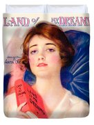 1919 - Land Of My Dreams By Anita Owen Sheet Music - Color Duvet Cover