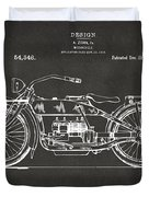 1919 Motorcycle Patent Artwork - Gray Duvet Cover