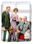 1920 - Life Magazine Cover - Engagement - J F Kernan - January 29 - Color Duvet Cover