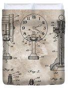 1920 Clock Patent Duvet Cover