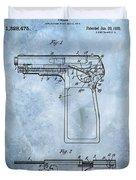 1920 Handgun Patent Duvet Cover