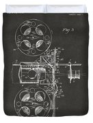 1920 Motion Picture Machine Patent Gray Duvet Cover
