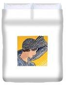 1920s Sun Hat Duvet Cover