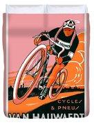 1921 - Van Hauwaert Bicycle Belgian Advertisement Poster - Color Duvet Cover