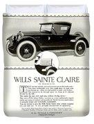 1921 - Wills Sainte Claire Automobile Roadster Advertisement Duvet Cover
