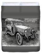 1921 Hudson-b-w Duvet Cover