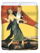 1922 - Columbia Gramophone Company Italian Advertising Poster - Color Duvet Cover