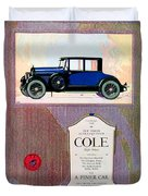 1922 - Cole 890 - Advertisement - Color Duvet Cover