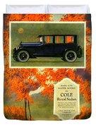 1923 - Cole Royal Sedan - Advertisement - Color Duvet Cover