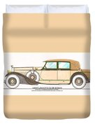 1923 Hispano Suiza Club Sedan By R.h.dietrich Duvet Cover