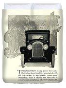 1924 - Buick Six Advertisement Duvet Cover