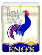 1924 - Eno's Fruit Salt Advertisement - Color Duvet Cover
