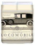 1924 - Locomobile Victoria Sedan Automobile Advertisement Duvet Cover