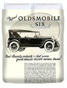 1924 - Oldsmobile Six Automobile Advertisement Duvet Cover