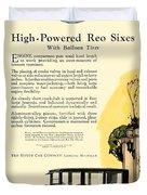 1924 - Reo Six Automobile Advertisement - Color Duvet Cover