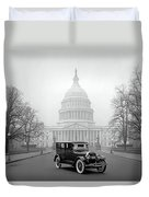 1924 Ford Lincoln At U. S. Capitol Duvet Cover