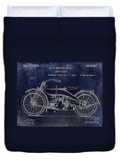 1924 Harley Davidson Motorcycle Patent  Duvet Cover