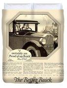 1925 - Buick Automobile Advertisement Duvet Cover