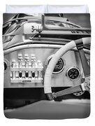 1925 Aston Martin 16 Valve Twin Cam Grand Prix Steering Wheel -0790bw Duvet Cover