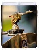 1925 Isotta Fraschini Tipo 8a S Corsica Boattail Speedster Hood Ornament Duvet Cover by Jill Reger
