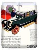 1926 - Chrysler Imperial Convertible Model 80 Automobile Advertisement - Color Duvet Cover