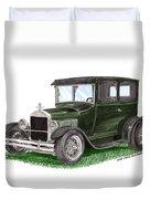 1926 Ford Tudor Sedan Street Rod Duvet Cover