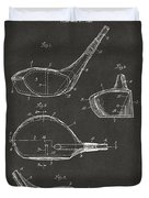 1926 Golf Club Patent Artwork - Gray Duvet Cover
