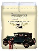 1927 - Buick Automobile - Color Duvet Cover
